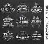 christmas typographic... | Shutterstock .eps vector #351711389