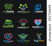 family and people logo set logo ... | Shutterstock .eps vector #351724649