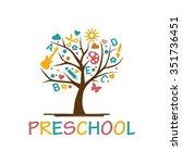 playgroup  preschool ... | Shutterstock .eps vector #351736451