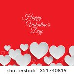 valentine's day background | Shutterstock .eps vector #351740819