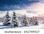 Winter Mountain Scenery Of Pin...