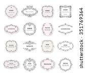 vintage frames and labels big... | Shutterstock .eps vector #351769364