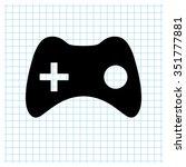 joystick   black vector icon