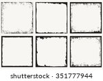 grunge frame.grunge background... | Shutterstock .eps vector #351777944