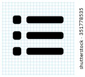 expand menu   black vector icon