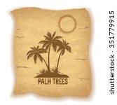tropical landscape  sea island... | Shutterstock .eps vector #351779915