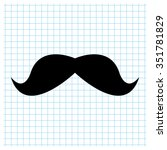 mustaches   black vector icon