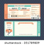 pastel retro boarding pass... | Shutterstock .eps vector #351789809