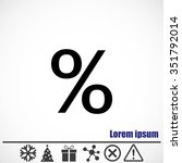 percent vector icon | Shutterstock .eps vector #351792014
