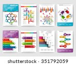 set of infographic brohucres.... | Shutterstock .eps vector #351792059
