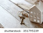 image of small miniature house... | Shutterstock . vector #351795239