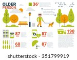 illustration of older person... | Shutterstock .eps vector #351799919