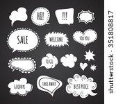 speech bubbles in vector on...   Shutterstock .eps vector #351808817