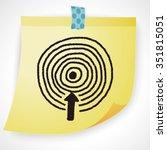 target doodle | Shutterstock .eps vector #351815051