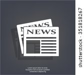 flat icon of news | Shutterstock .eps vector #351818267