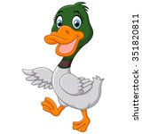 cute baby duck waving hand   Shutterstock .eps vector #351820811