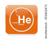 helium chemical element button | Shutterstock .eps vector #351822671