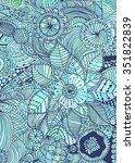 hand drawn zentangle doodle... | Shutterstock .eps vector #351822839
