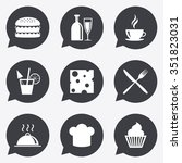 food  drink icons. coffee and... | Shutterstock .eps vector #351823031
