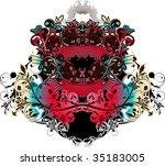 vector flower background | Shutterstock . vector #35183005
