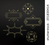 flourishes calligraphic frame.... | Shutterstock .eps vector #351830414