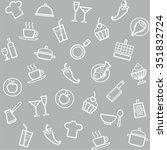 background  cuisine  cooking ... | Shutterstock .eps vector #351832724