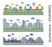 city skylines. landscape... | Shutterstock .eps vector #351838001