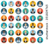 business people icons | Shutterstock .eps vector #351839765