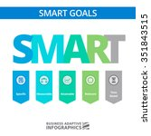 smart goals setting strategy... | Shutterstock .eps vector #351843515
