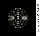 geometric monogram logo.... | Shutterstock .eps vector #351844109