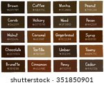 brown tone color shade... | Shutterstock .eps vector #351850901