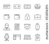 financial and business icon set.... | Shutterstock .eps vector #351856391
