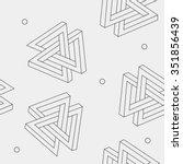pattern geometric seamless... | Shutterstock .eps vector #351856439