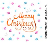 merry christmas   orange... | Shutterstock .eps vector #351856871