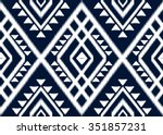 geometric ethnic pattern design ... | Shutterstock .eps vector #351857231