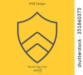 web line icon. shield. | Shutterstock .eps vector #351860375