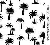 palm tree seamless pattern... | Shutterstock . vector #351872831