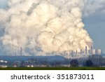 brown coal power plant emission. | Shutterstock . vector #351873011