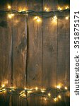 holiday christmas rough wood... | Shutterstock . vector #351875171