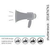 megaphone  loudspeaker icon.... | Shutterstock .eps vector #351876761
