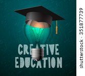 creative education design ... | Shutterstock .eps vector #351877739