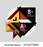 paper style abstract geometric... | Shutterstock .eps vector #351877889