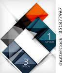 paper square shapes banner.... | Shutterstock .eps vector #351877967
