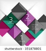 paper style design templates ... | Shutterstock .eps vector #351878801