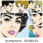 collection of portraits of... | Shutterstock . vector #35188153