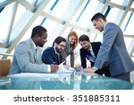 group of business people...   Shutterstock . vector #351885311