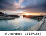sunrise at charlestown an... | Shutterstock . vector #351891869