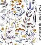 watercolor seamless pattern... | Shutterstock . vector #351891911