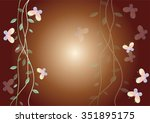 spring butterflies with the... | Shutterstock .eps vector #351895175