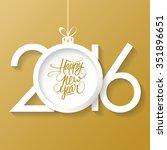 creative happy new year 2016...   Shutterstock . vector #351896651